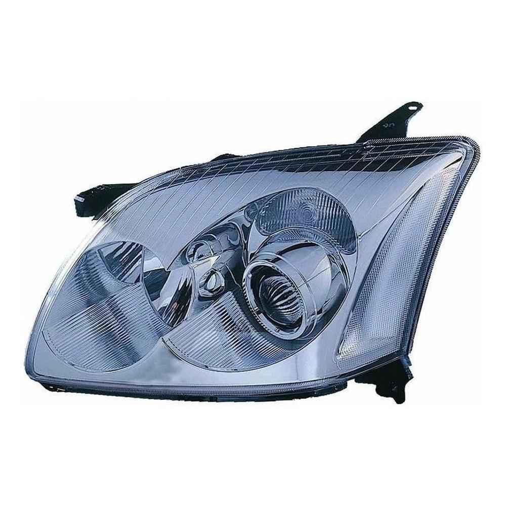 Toyota Avensis MK2 [03-06] Headlight Unit - Chrome Inner - Halogen H7 & H1 (not Verso)