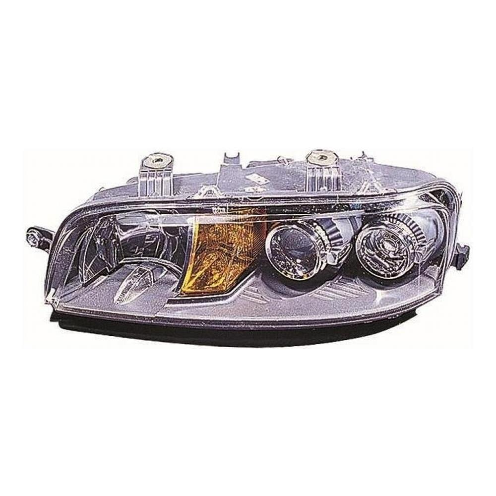 Fiat Punto MK2 [99-01] Headlight Unit H7 - Black Inner - Without Fog