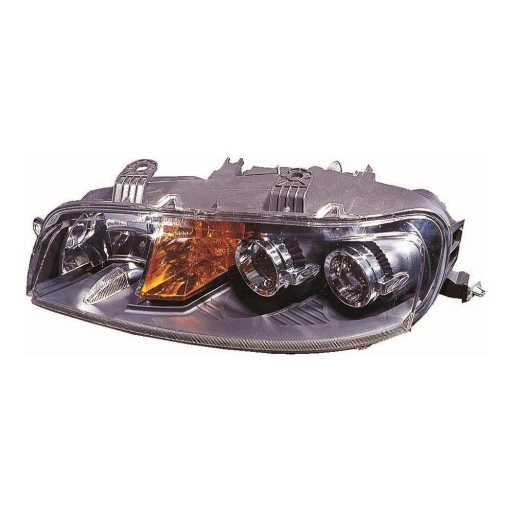 Fiat Punto MK2 [01-03] Headlight Unit H1 - Black Inner - Without Fog