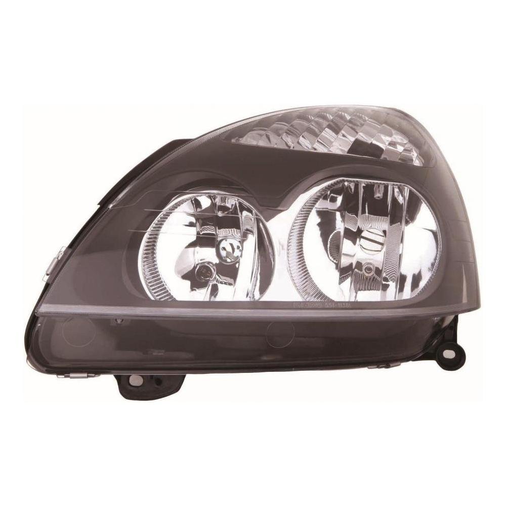 Renault Clio MK2 [01-05] Headlight Unit - with black inner (Halogen H7 & H1)
