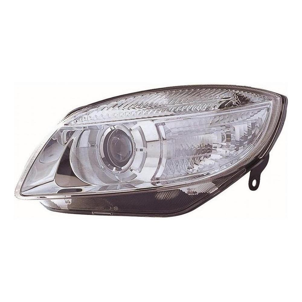 Skoda Fabia MK2 [07-10] Headlight Unit - Chrome Projector Type - H7