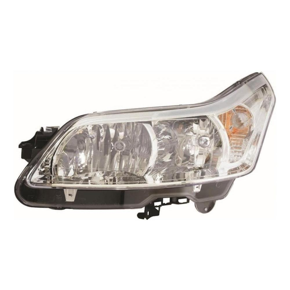 Citroen C4 [04-10] Headlight Unit - includes motor - H7 & H1 Halogen