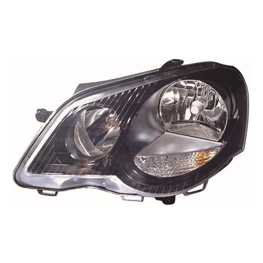 VW Polo 9N2 [05-08] Headlight Unit - Black Tinted