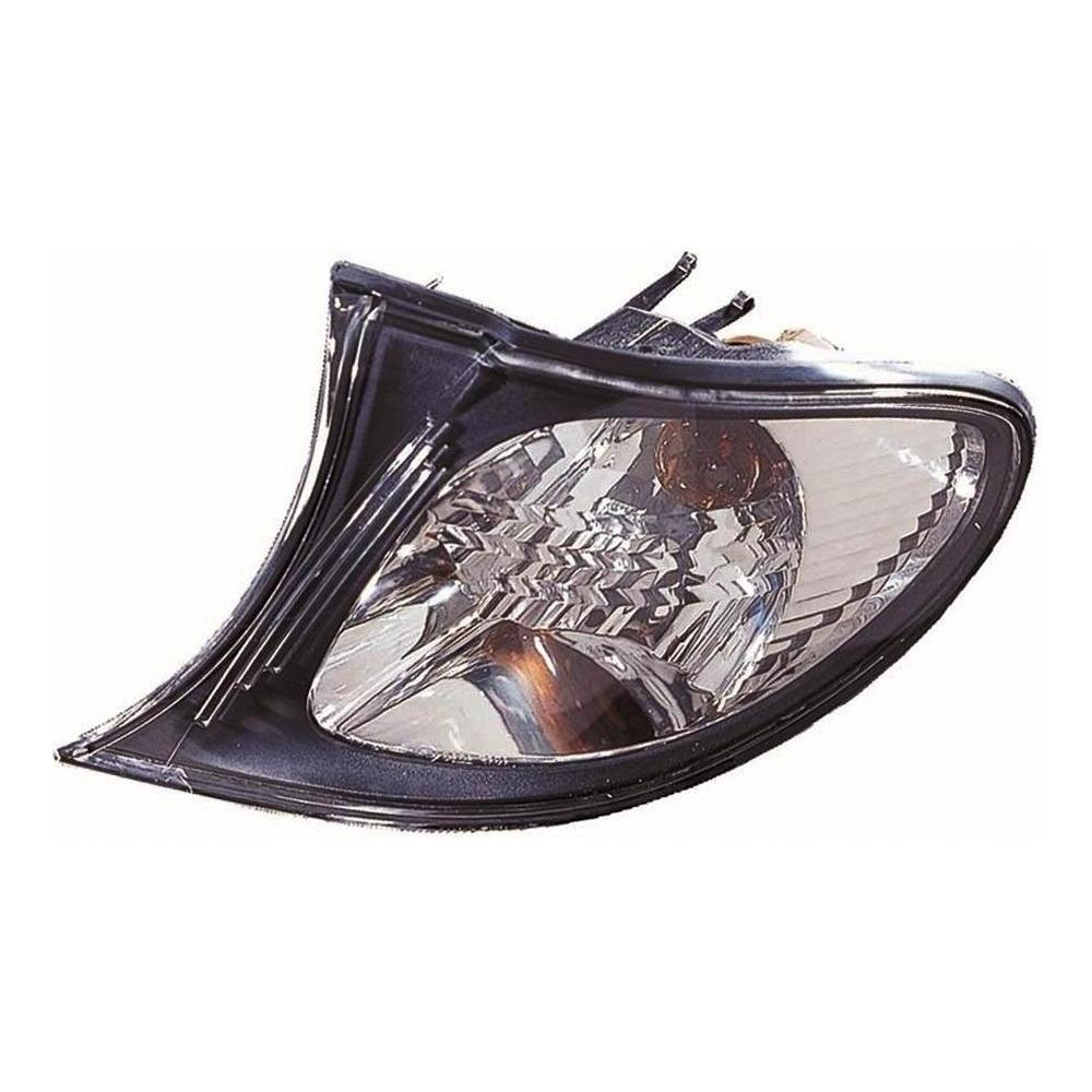 BMW 3 Series E46 [01-05] Front Indicator Light Unit - Clear with Black Surround (4dr & compact only)