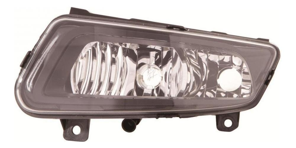 VW Polo GTI 6R [09 on] Front Fog Light Unit - Black Inner with DRL