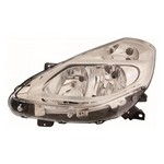 Renault Clio MK3 [10-12] Headlight Unit - with chrome inner - Halogen H7 & H1
